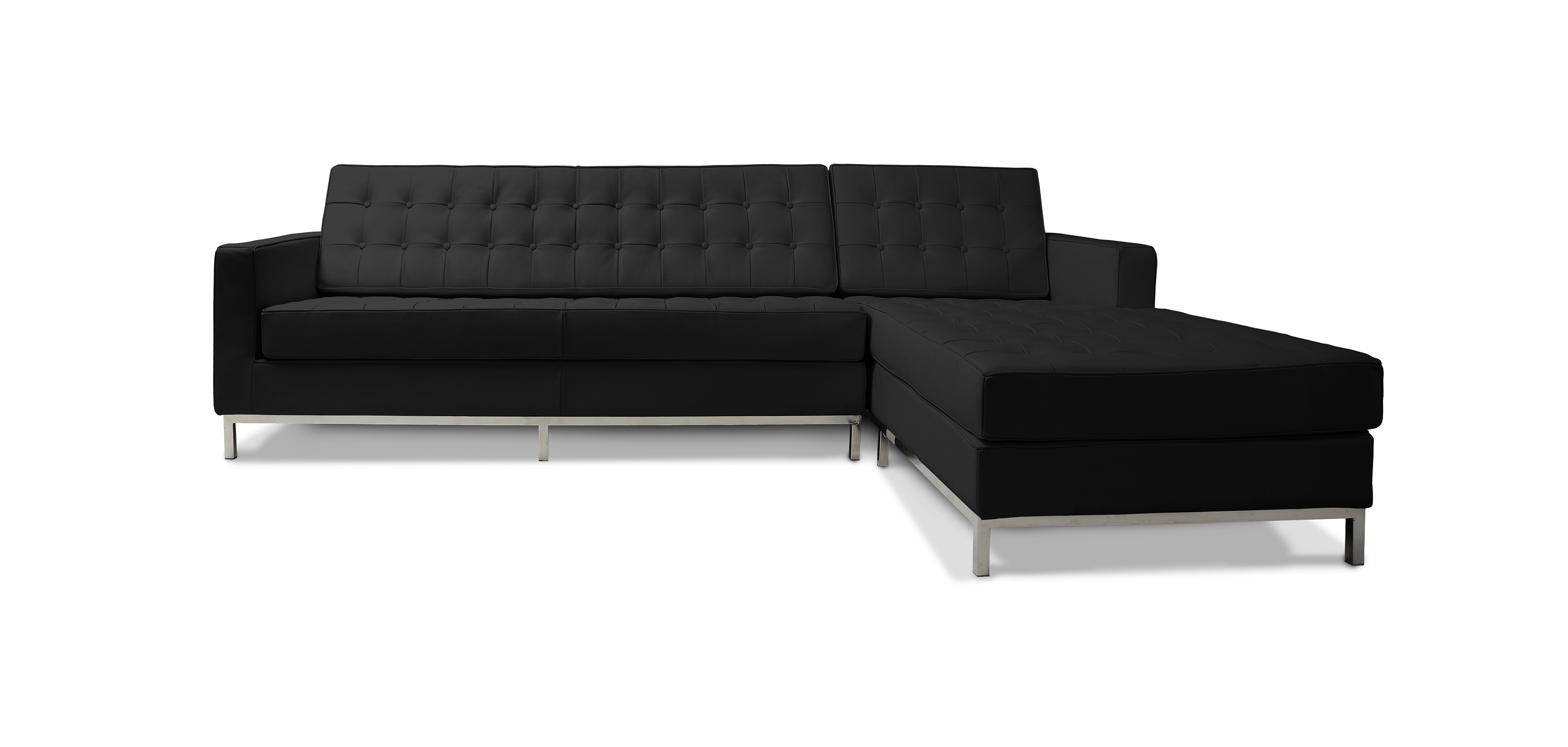 design ecksofa florence knoll kunstleder. Black Bedroom Furniture Sets. Home Design Ideas