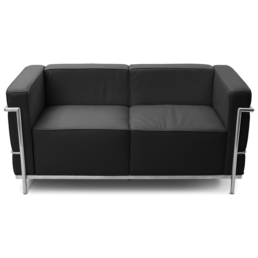 Design Sofa Lc3 Zweisitzer Charles Le Corbusier Hochwertiges Leder