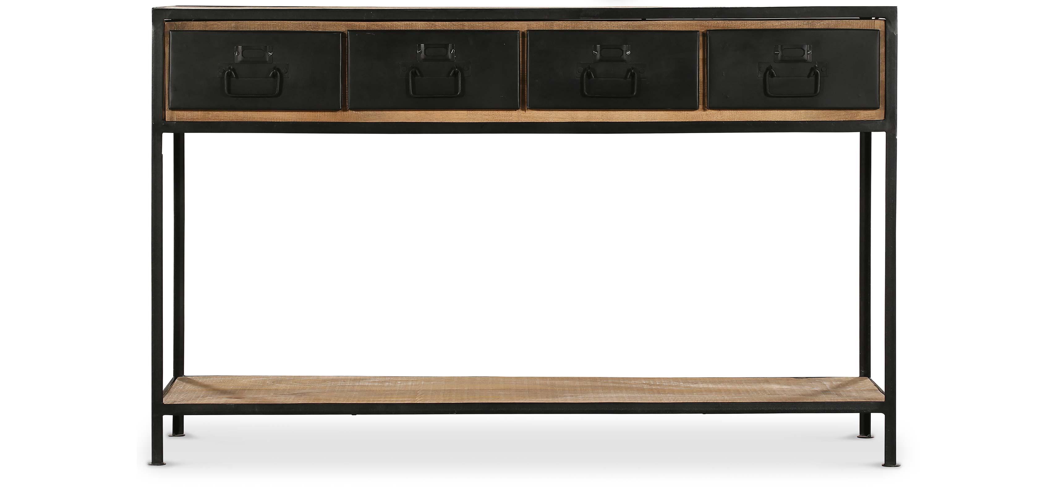 vintage industrial konsolentisch mit schubladen holz. Black Bedroom Furniture Sets. Home Design Ideas