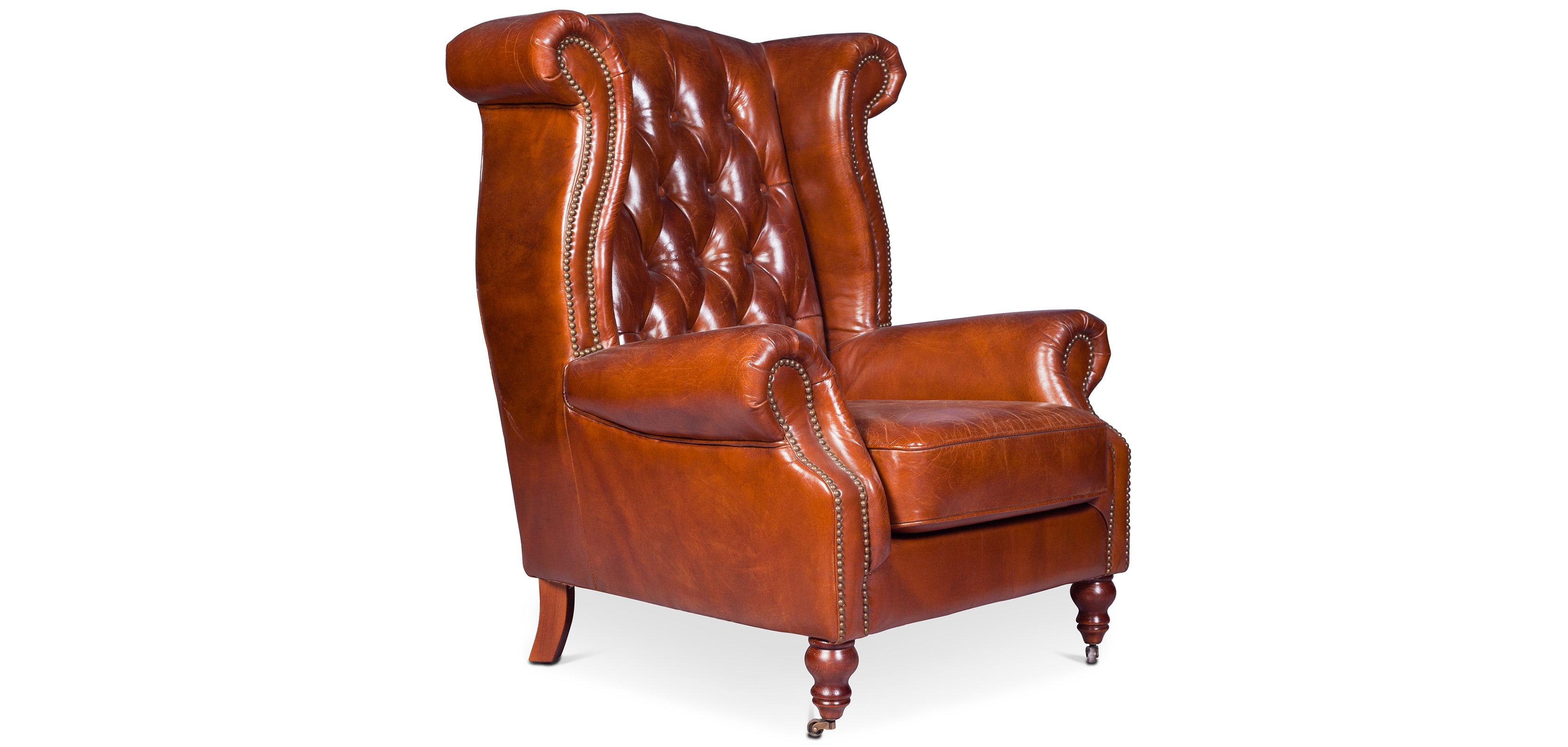 design sessel churchill lounge hochwertiges leder holz. Black Bedroom Furniture Sets. Home Design Ideas