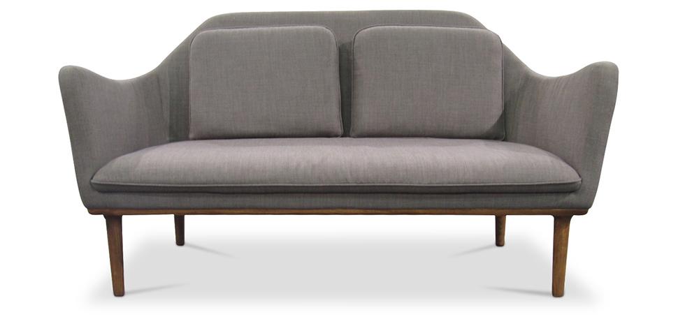 skandinavisches design inga 2 sitzer sofa stoff. Black Bedroom Furniture Sets. Home Design Ideas
