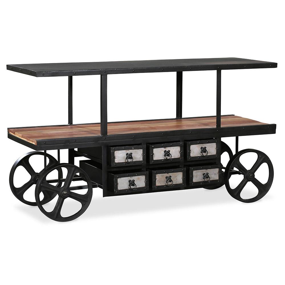 onawa vintage industrial syle metall und holz konsolentisch. Black Bedroom Furniture Sets. Home Design Ideas