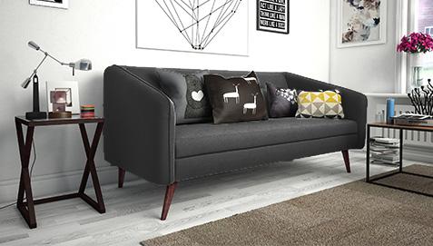 modernes 3 sitzer sofa. Black Bedroom Furniture Sets. Home Design Ideas