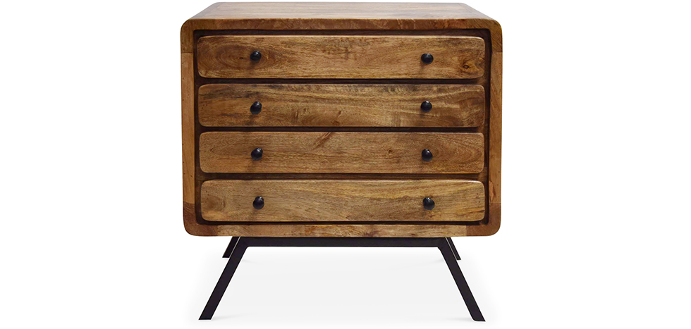 industrial stil recyceltes holz gro e kommode mit 4 schubladen jason. Black Bedroom Furniture Sets. Home Design Ideas