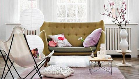 2-Sitzer Poet Sofa Skandinavisches Design - Stoff