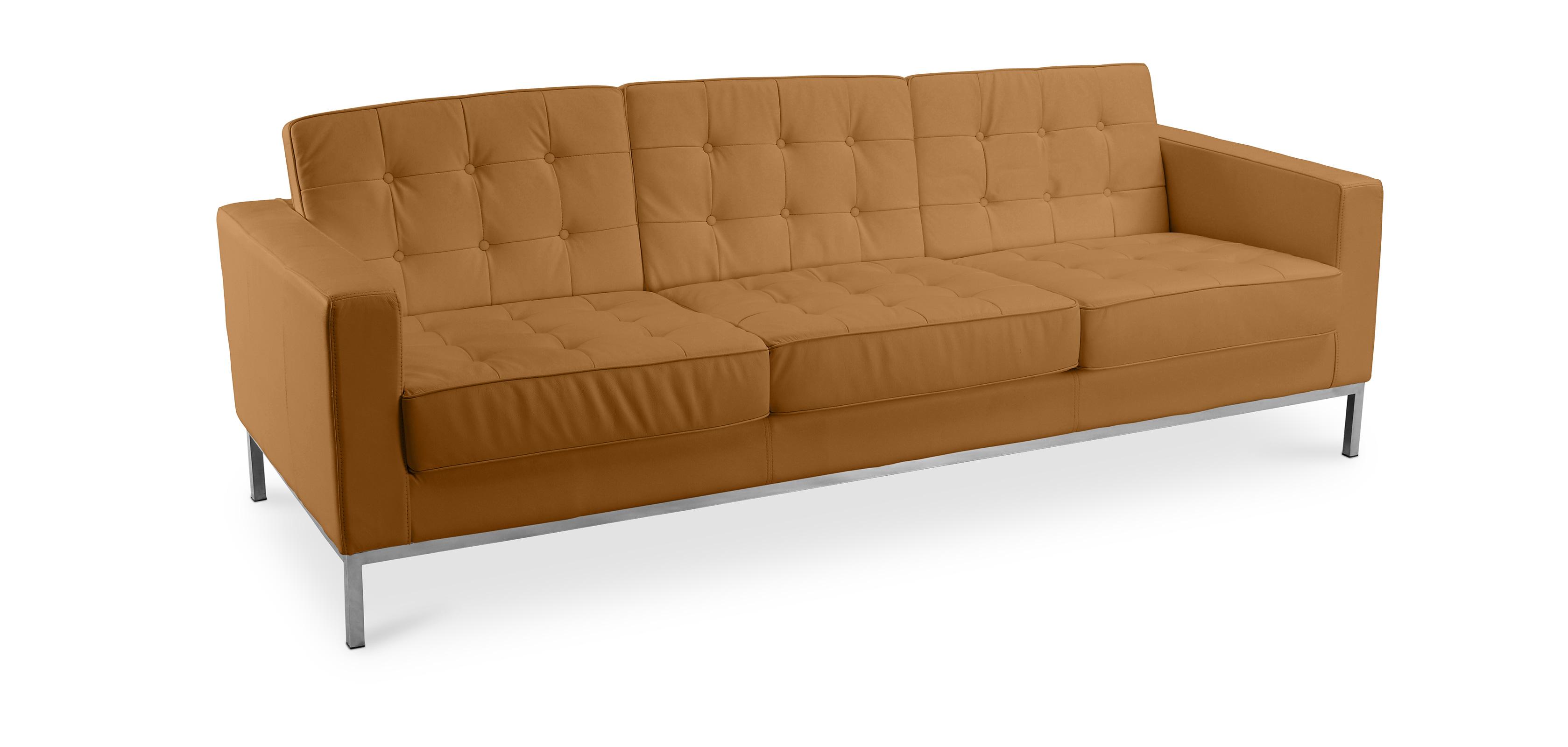 Design Sofa Kanel (Dreisitzer) - Hochwertiges Leder
