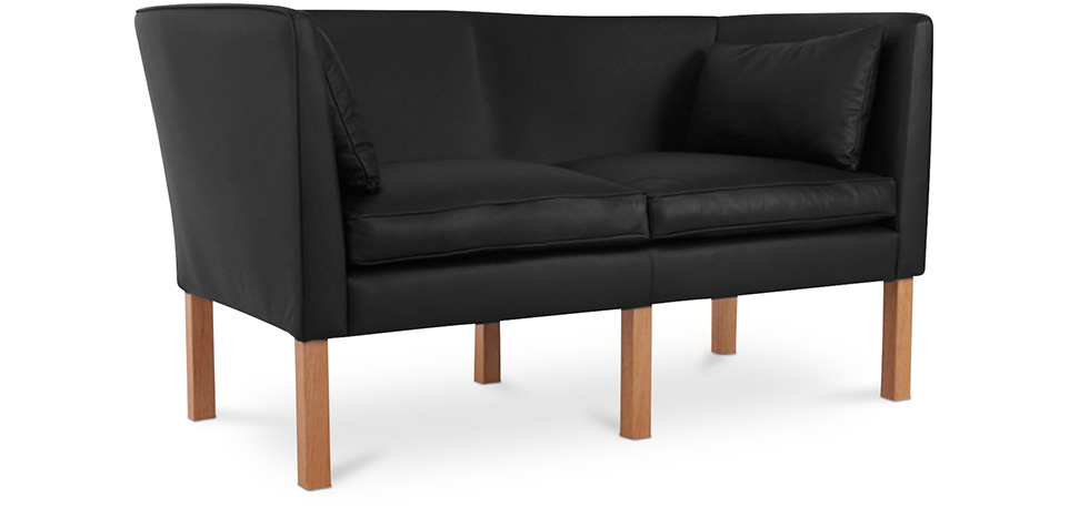 Skandinavisches Design Sofa 2214 (Zweisitzer)   Børge Mogensen    Hochwertiges Leder
