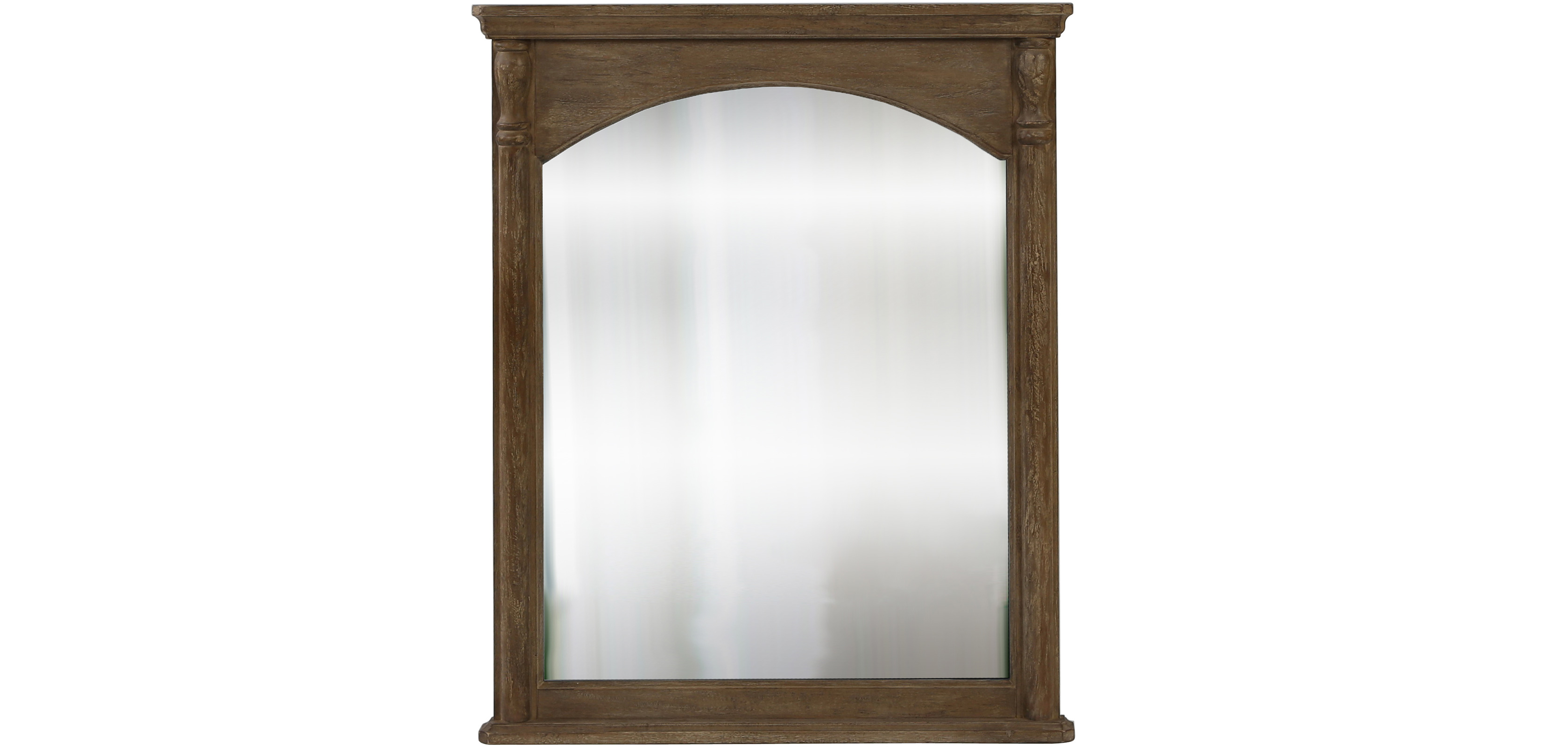 Rechteckiger Wandspiegel 100 x 80 - Holz