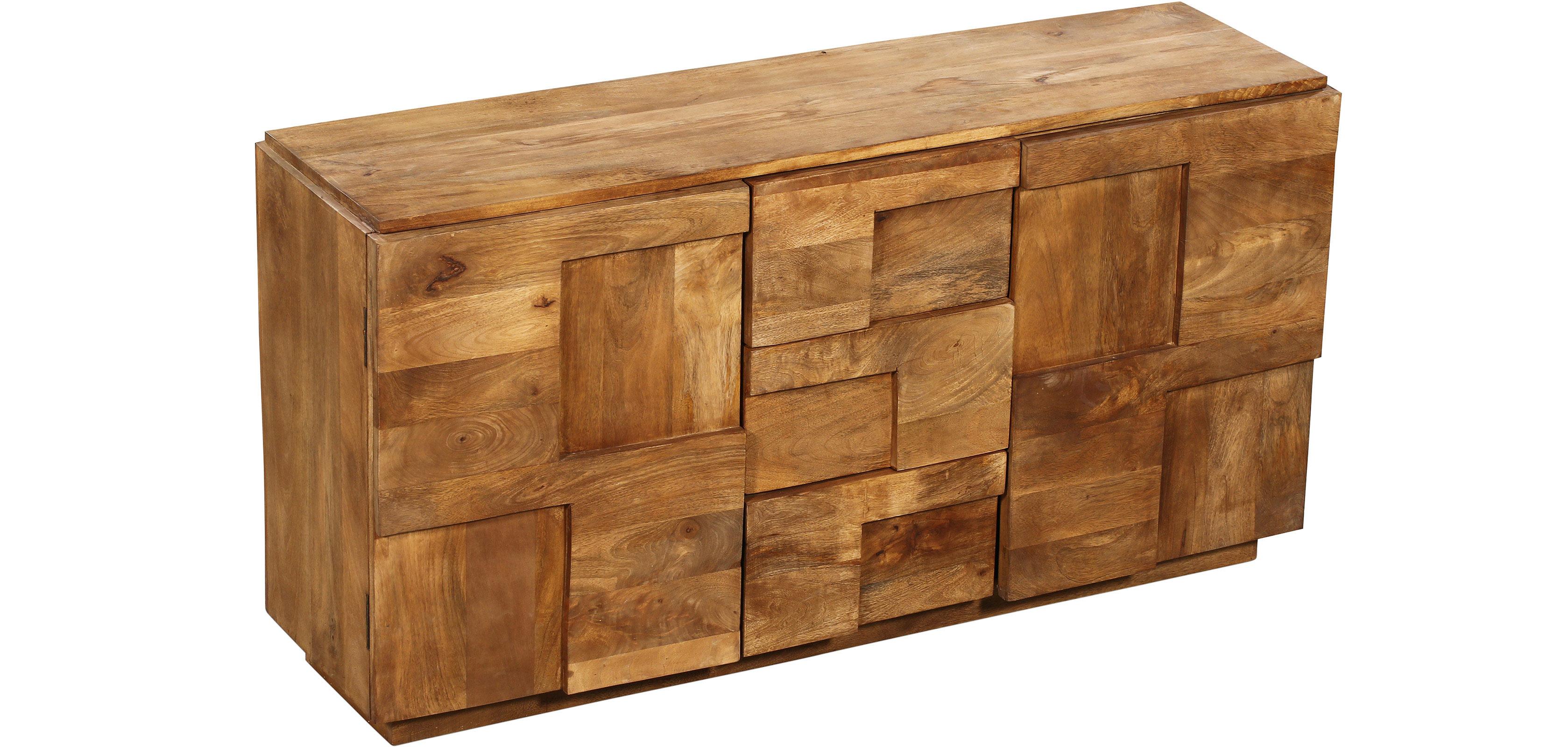 mango holz gro es sideboard. Black Bedroom Furniture Sets. Home Design Ideas