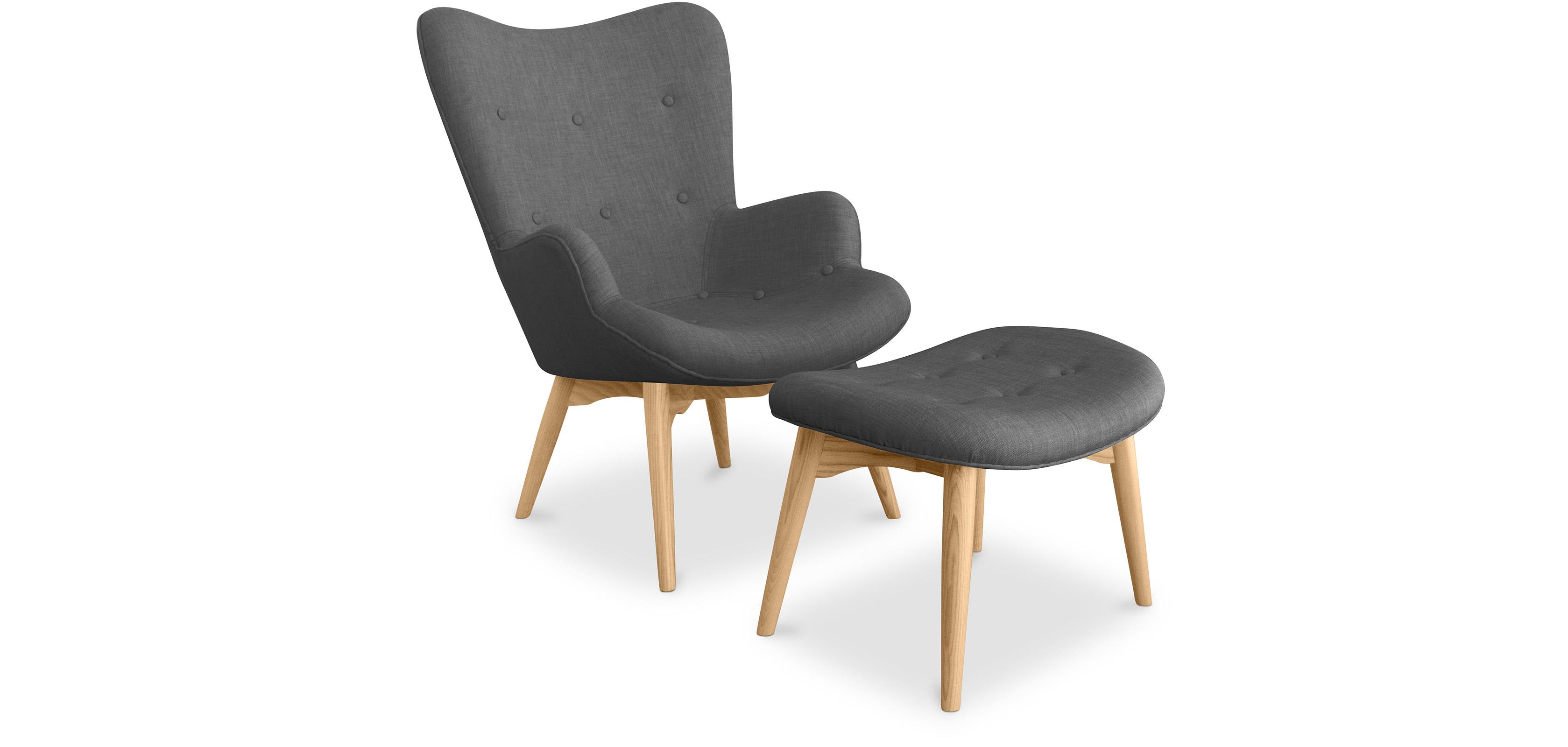 contour sessel und fu bank skandinavisches design grant featherston style. Black Bedroom Furniture Sets. Home Design Ideas