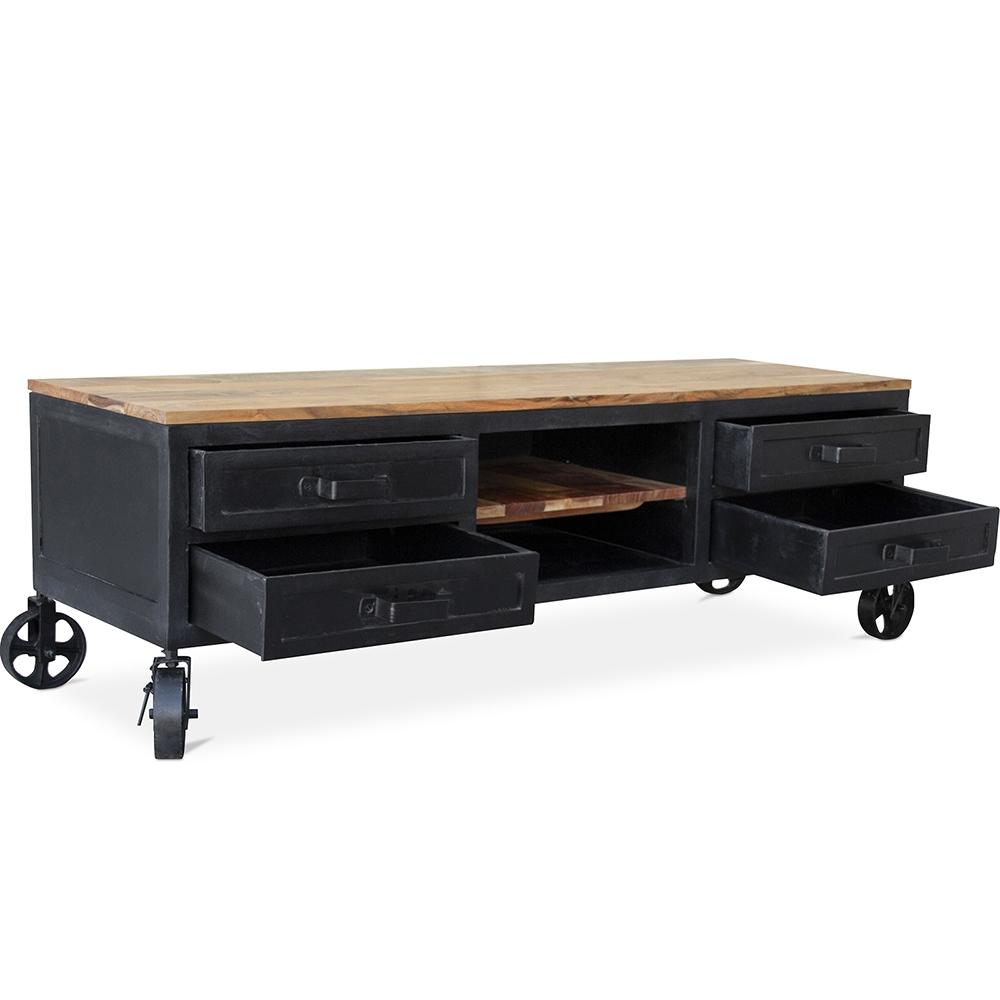 Industrieller Tv Schrank Inola Holz Und Metall
